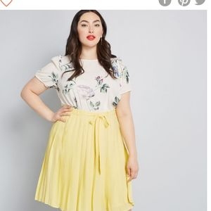 Modcloth purely pretty pleated skirt 2X